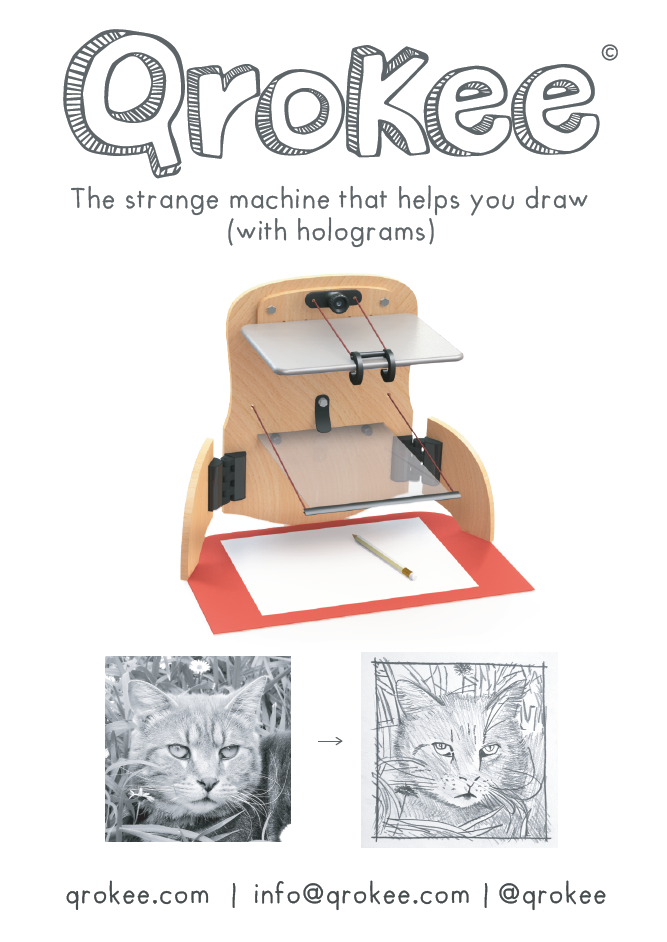 QroKee, the strange machine that helps you draw